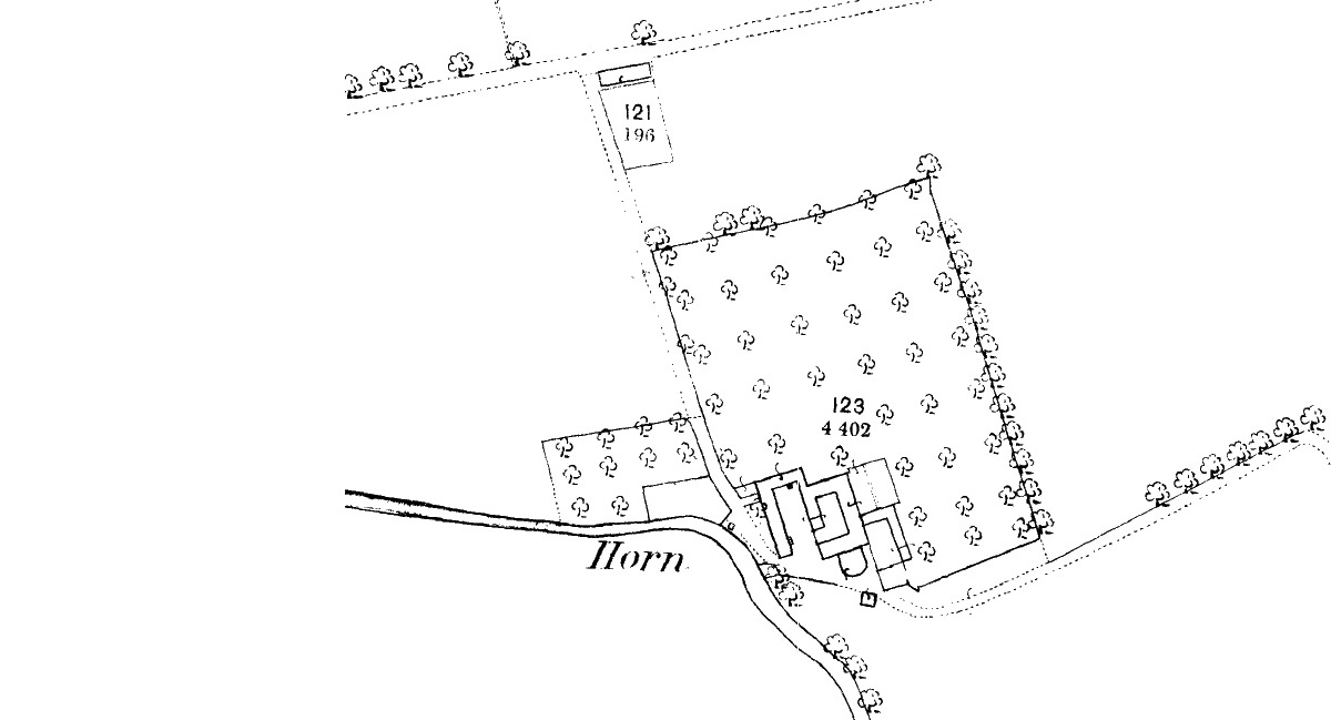 Orchards appear clearly on the old maps of the 19th century extended
