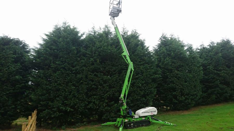 Hedge Reduction & Trimming With a Mobile Elevated Work Platform