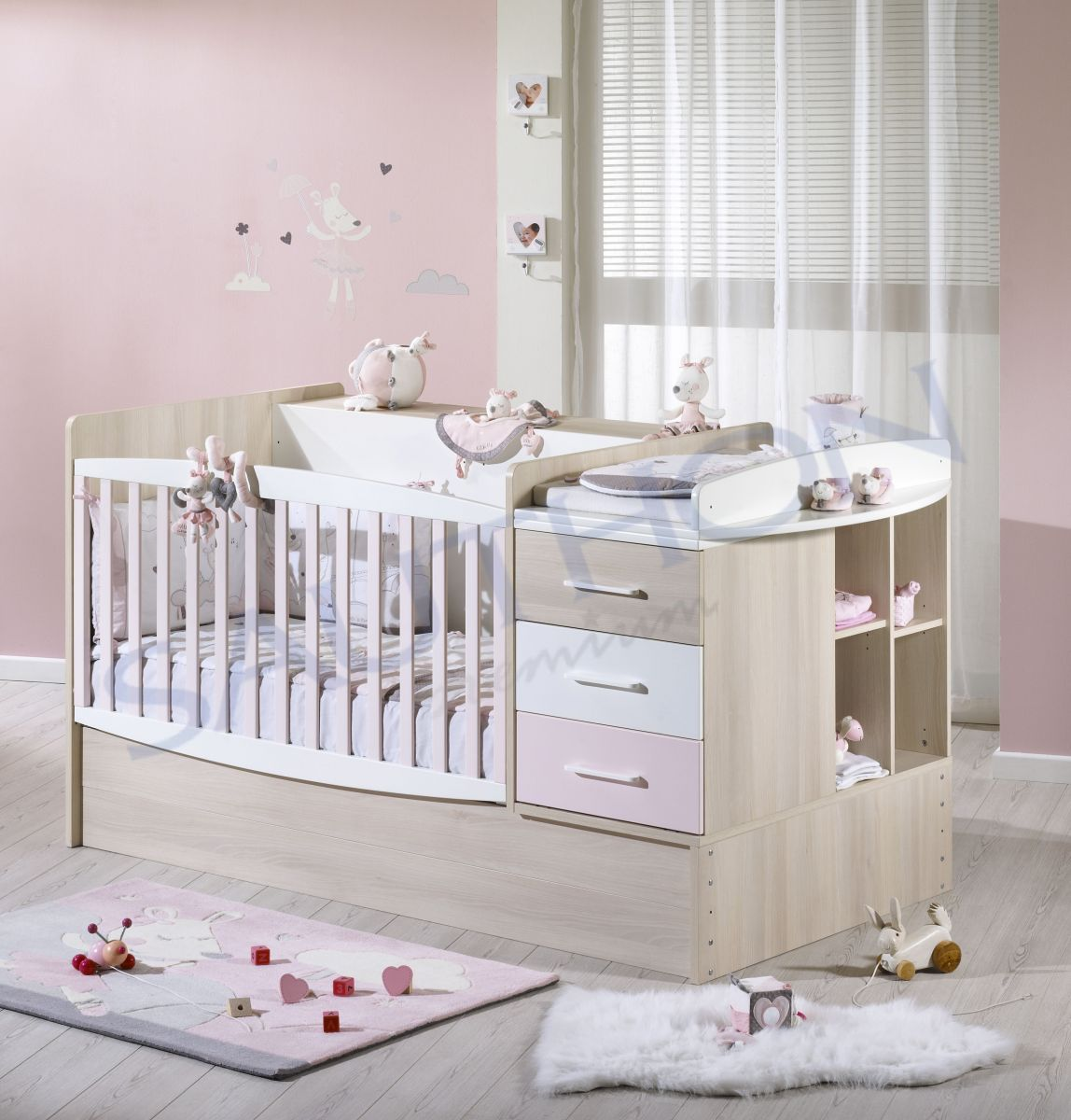 Lit chambre transformable milk bois rose 70 x 140  MILK ROSE  SAUTHON  Orchestra  Articles