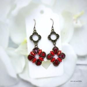 Aegean Breeze Earrings red