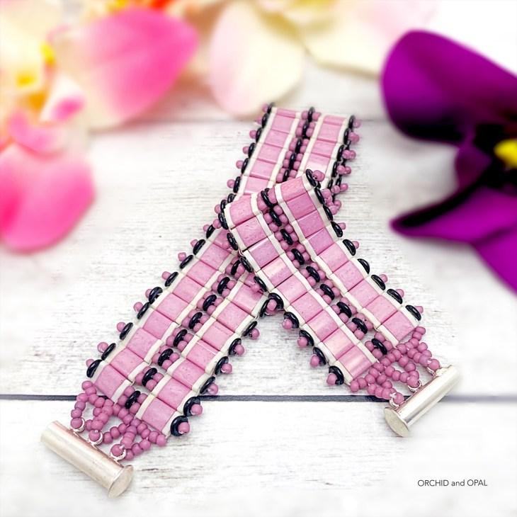 Arboretum Tila Bead Bracelet Pink