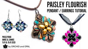 Paisley Flourish Beaded Earrings Tutorial