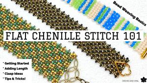 Flat Chenille Beading Stitch Tutorial Beginners