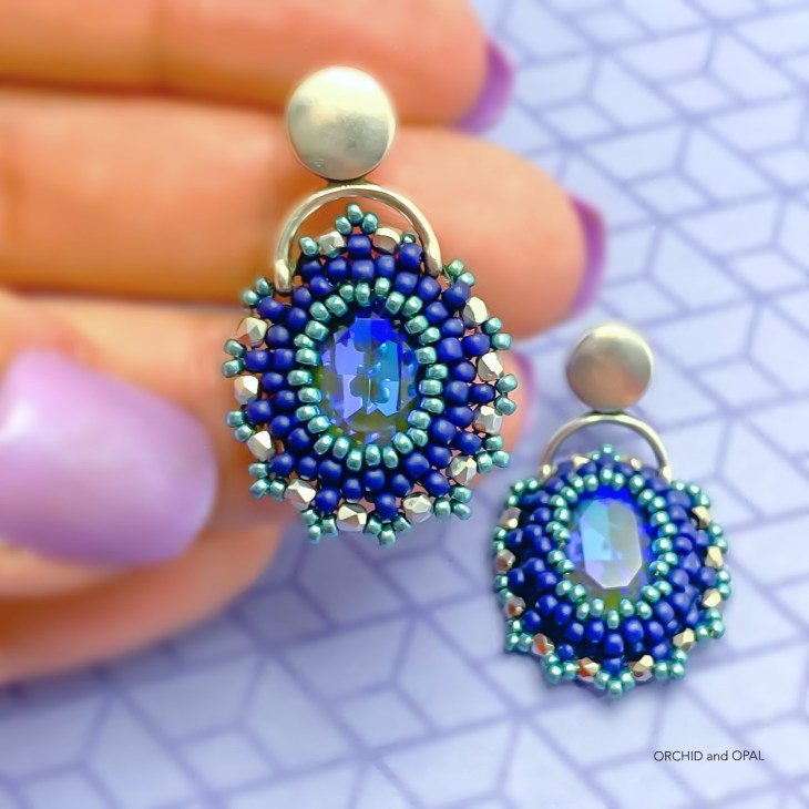 golden hour earrings blue