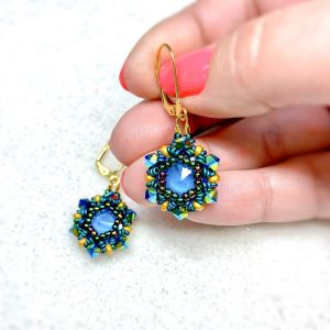 royal plumage earrings