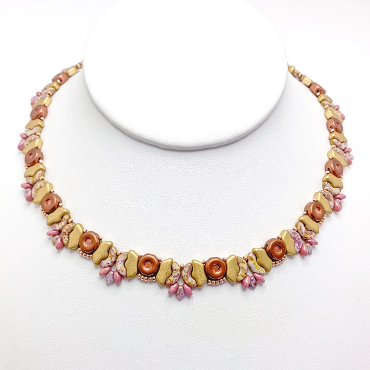 Butterfly Garden Beaded Necklace Gold