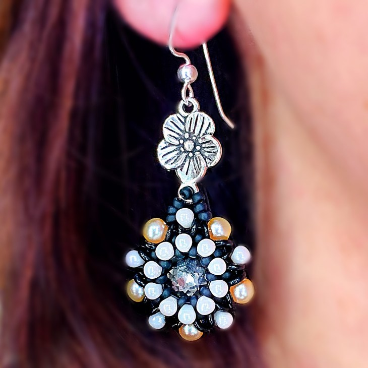 Crystal Conservatory Beaded Earrings