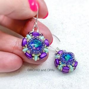 ni-bit petal earrings purple