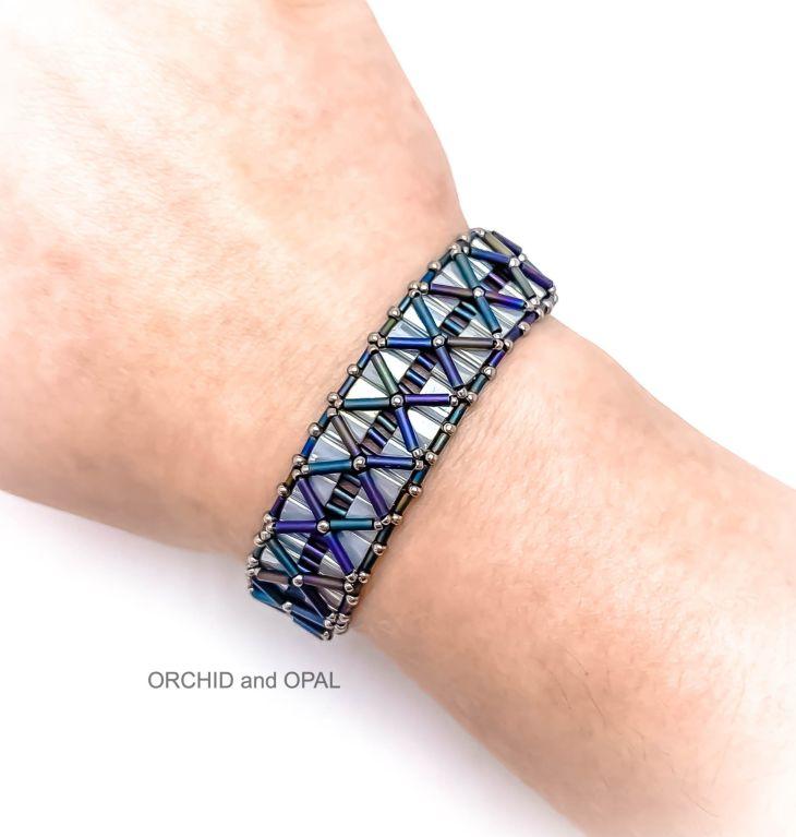 nexus beaded bracelet pattern