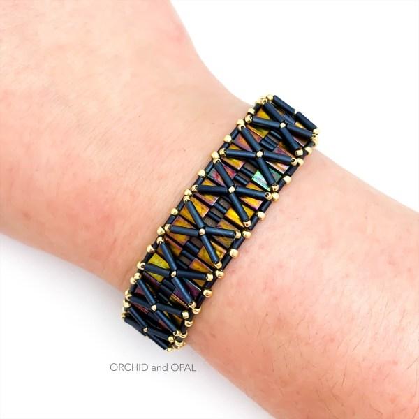 nexus bracelet - gold black