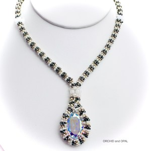 swarovski oval necklace white 2