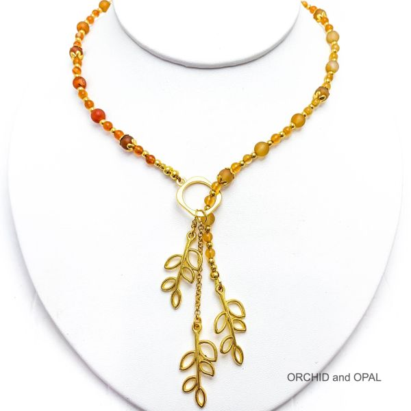 agate lariat necklace