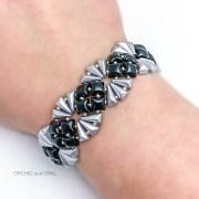 deco bracelet black/silver