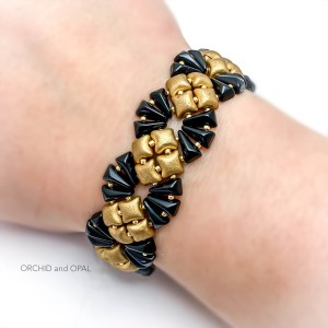deco bracelet gold/black