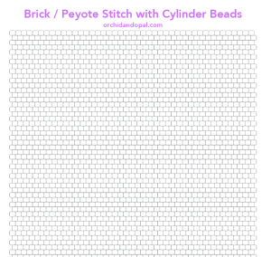 printable brick stitch beading paper