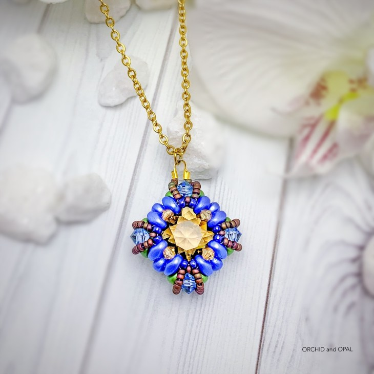 tranquil spring beaded pendant necklace