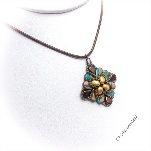 paisley flourish pendant necklace turquoise