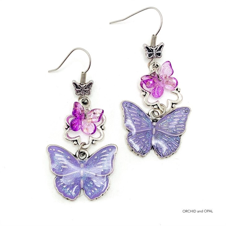 Easy Resin on Metal Tutorial   Butterfly Charms