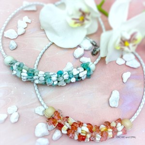 Gemstone Chip Bead and Leather Cord Necklace Tutorial