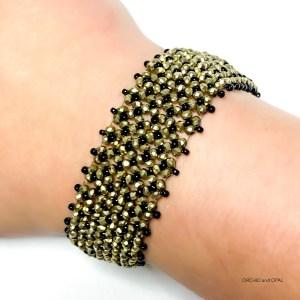 black and gold crystal bracelet
