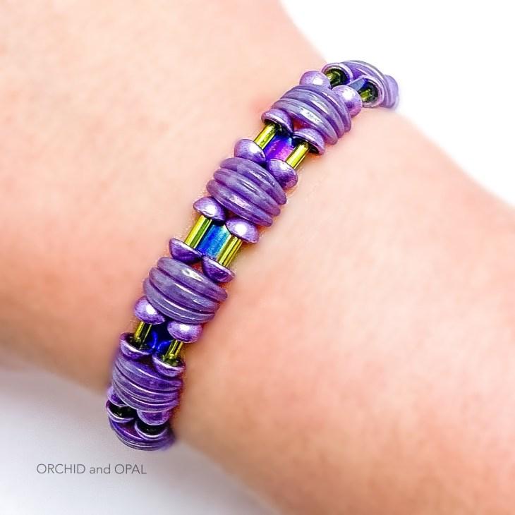 backlit bracelet purple