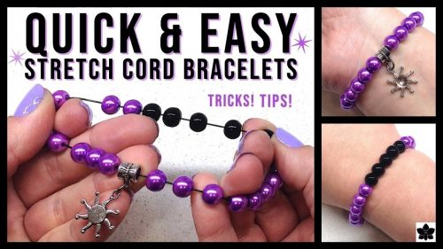 how to make a beaded stretch bracelet