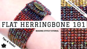 herringbone 101 beading stitch how to (4)