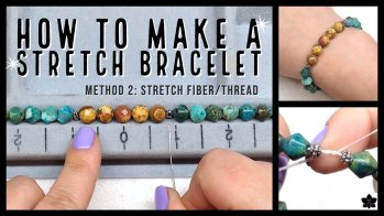 how to make a stretch bracelet 2