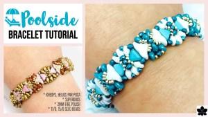 poolside beaded bracelet tutorial