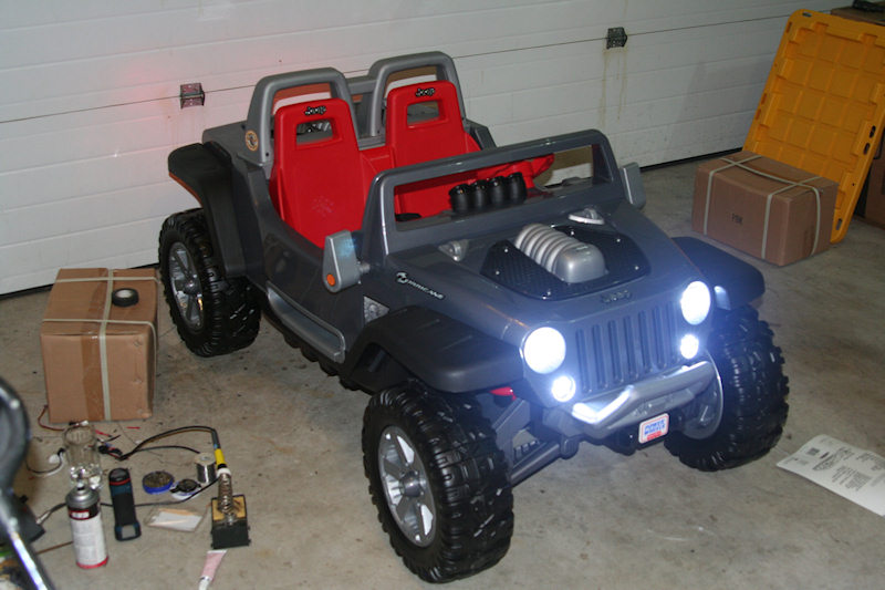 Modified Power Wheels Jeep Hurricane Wiring Problem
