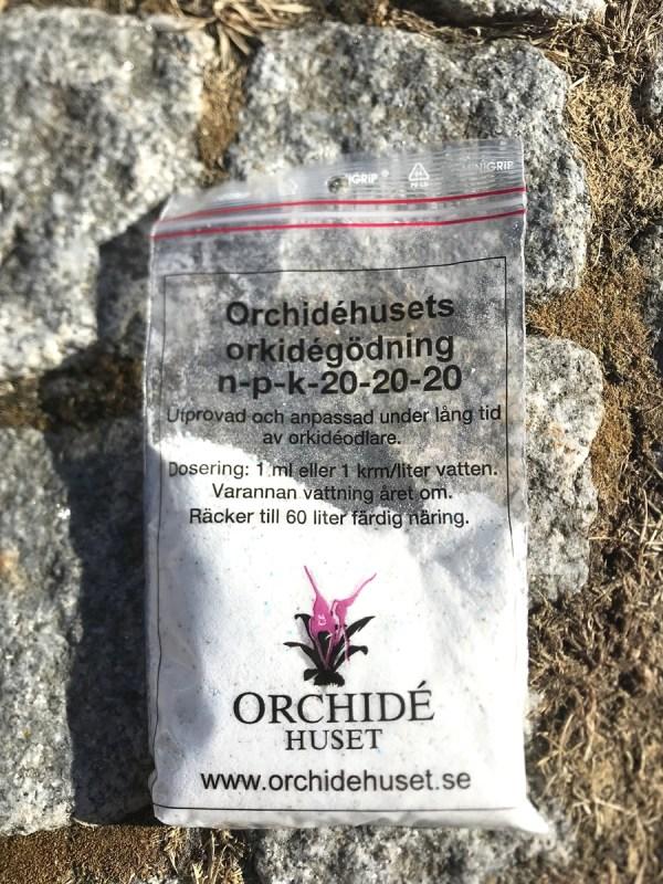 Orkidégödning NPK 20-20-20, 1 påse