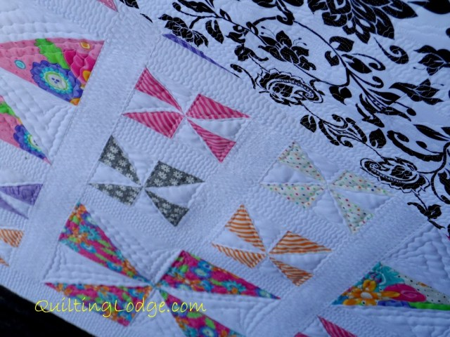 Quilting Lodge Pinwheel Quilt ~ Close Up