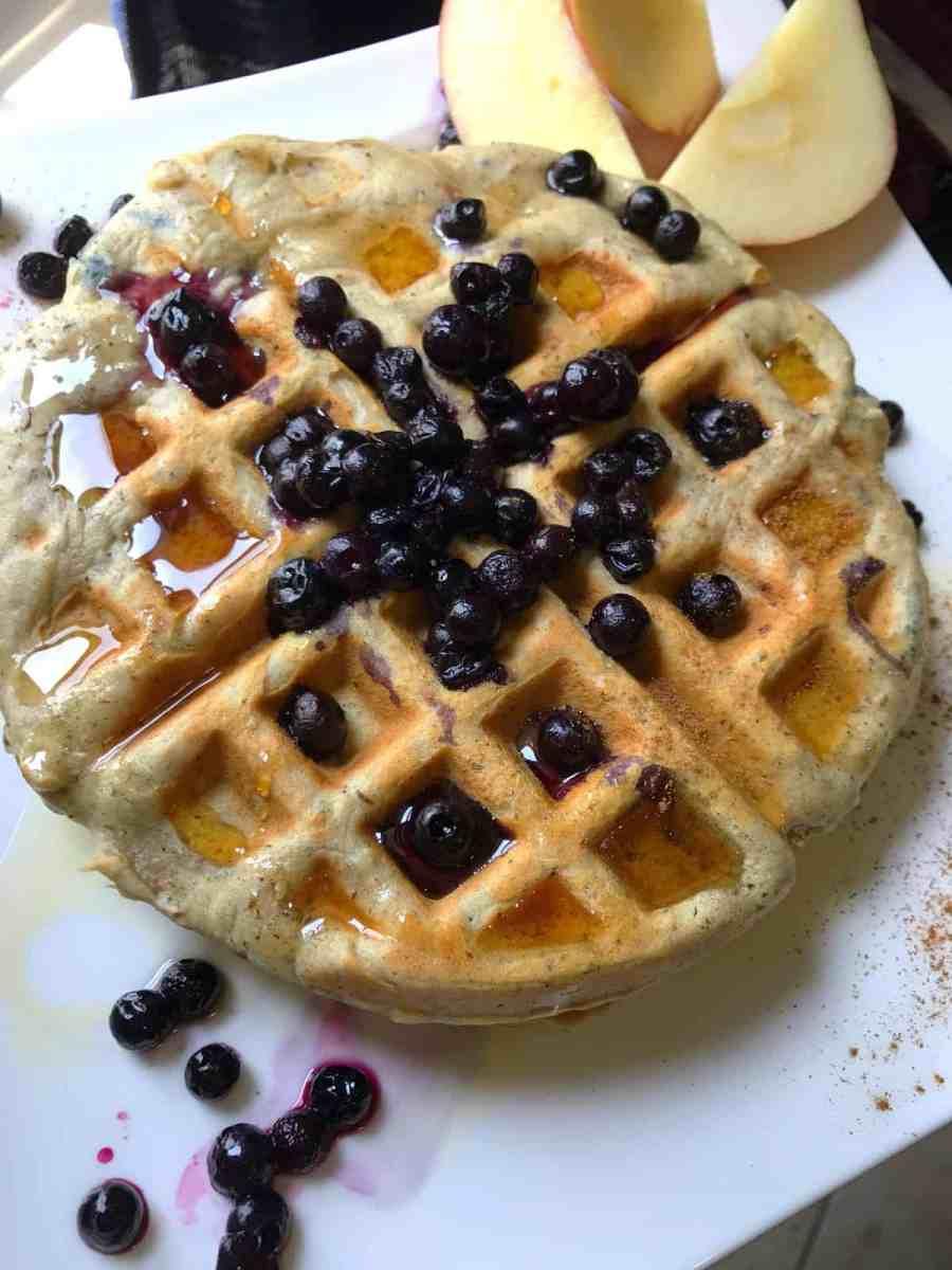 Vegan Gluten-Free Banana Belgian Waffles