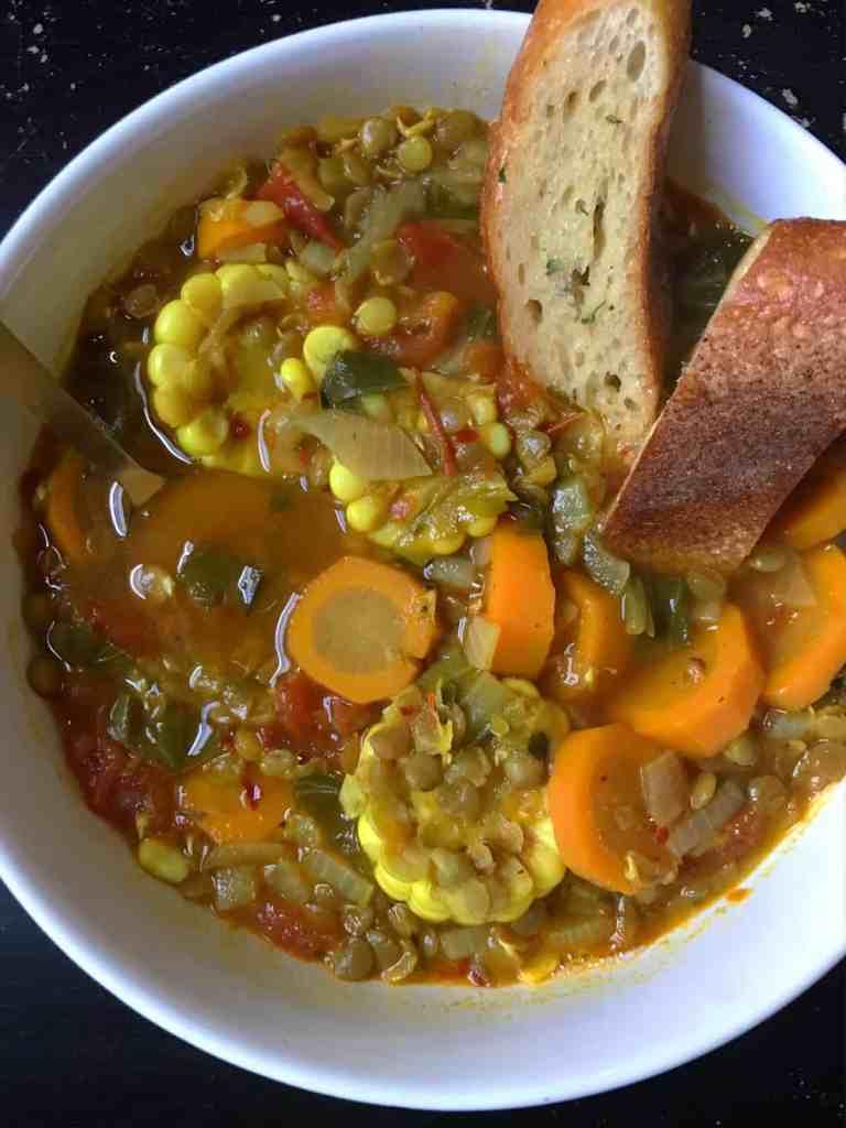 https://www.Orchidsandsweettea.com/Spicy Vegan Lentil + Veggie Soup