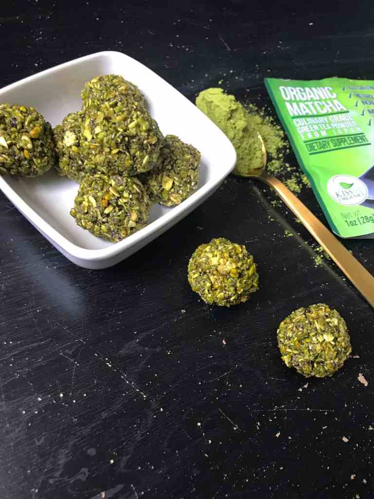 No-Bake Matcha Green Tea Energy Bites