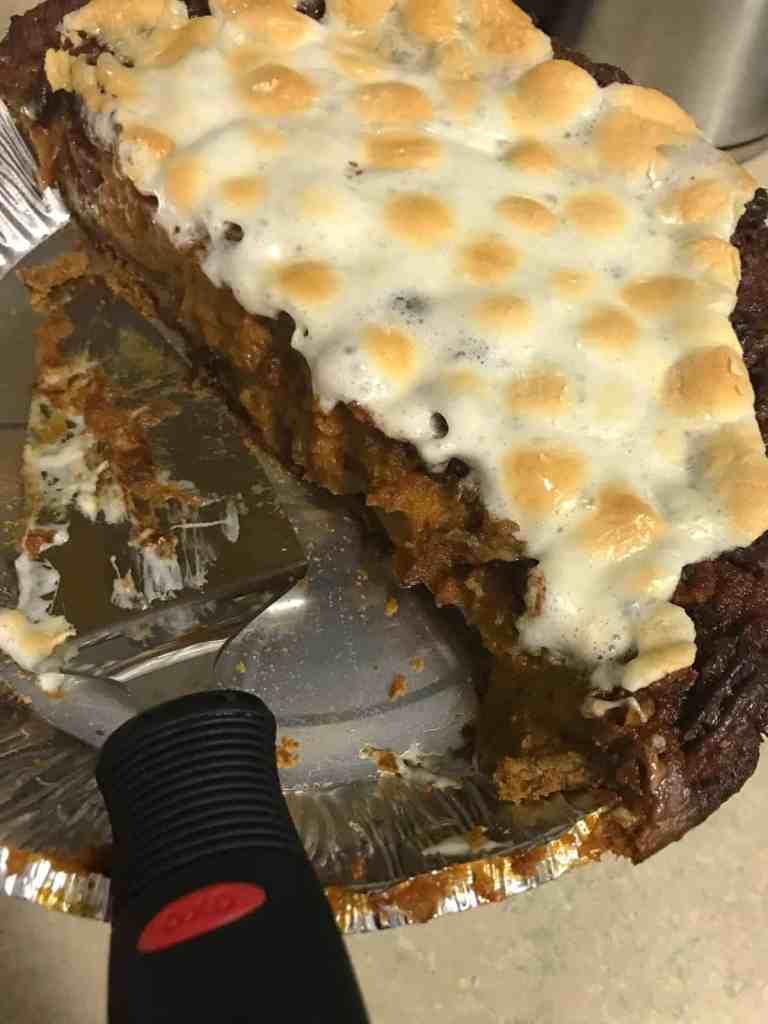Sweet Potato Pecan Marshmallow Pie