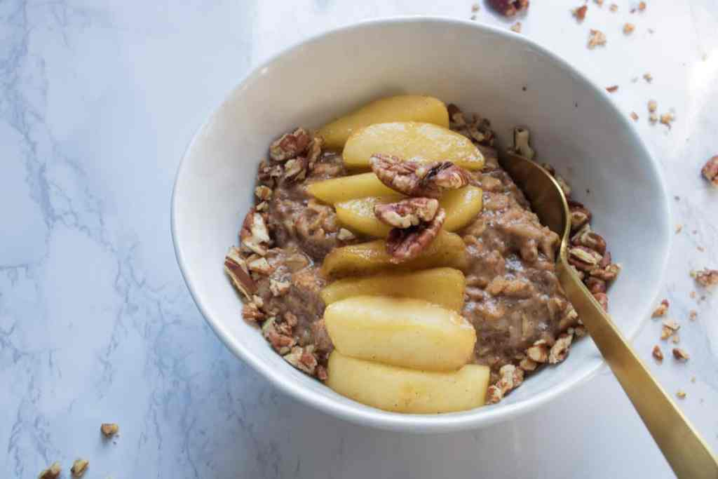 Cinnamon Chia Oatmeal with Caramelized Apple