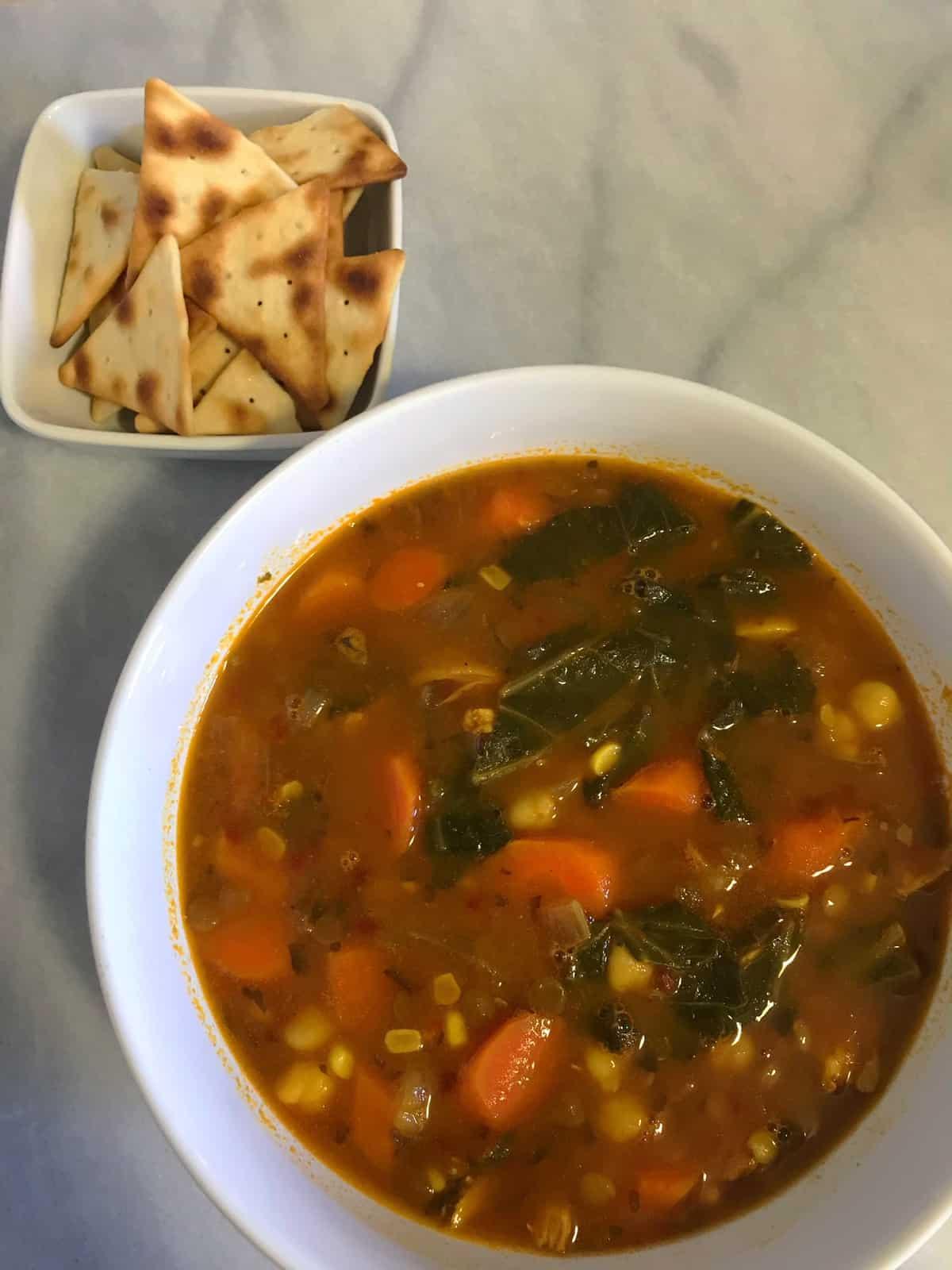Loaded Vegan Veggie Soup