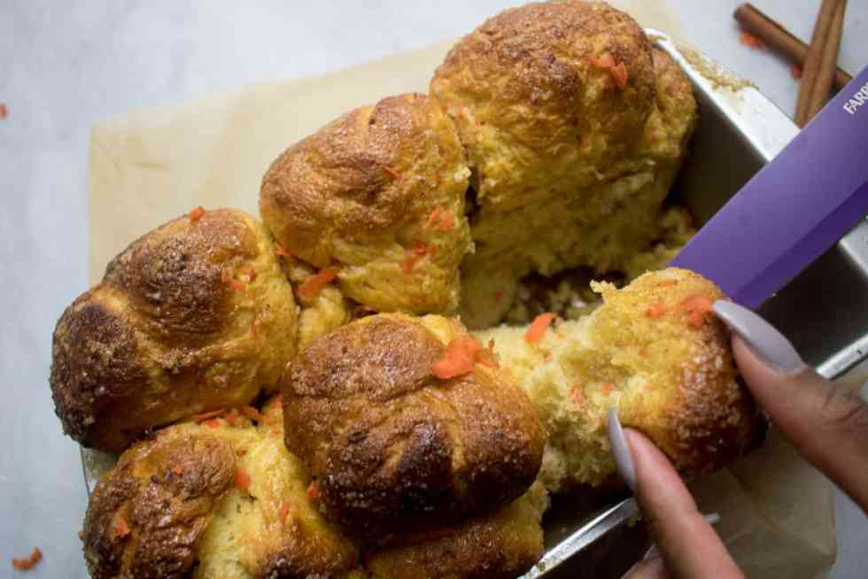 Vegan Maple Carrot Monkey Bread
