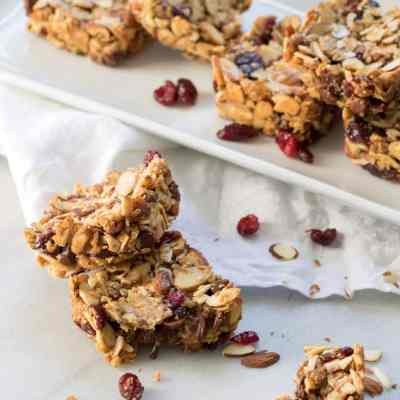 Chocolate Cranberry Almond Snack Bars