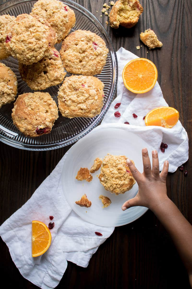 Cranberry Orange Crumble Muffins