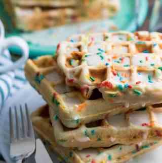 Light + Fluffy Funfetti Vegan Waffles