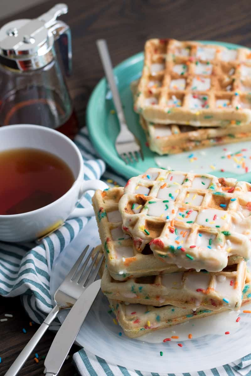 Light + Fluffy Funfetti Vegan Waffles