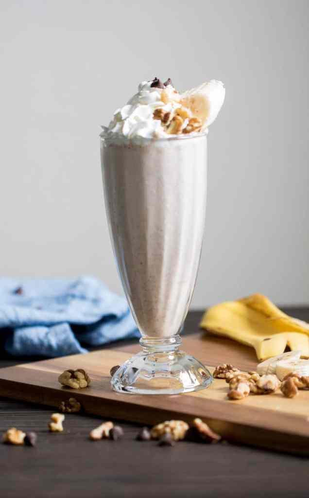 Easy Peanut Butter Chunky Monkey Milkshake