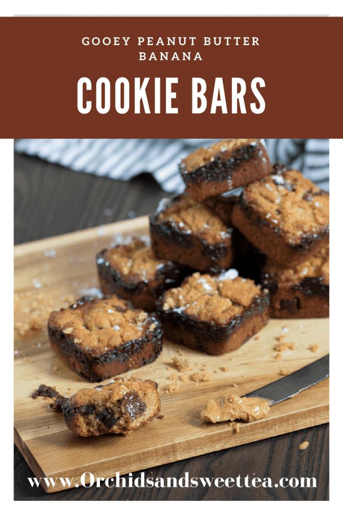 Gooey Peanut Butter Banana Cookie Bars