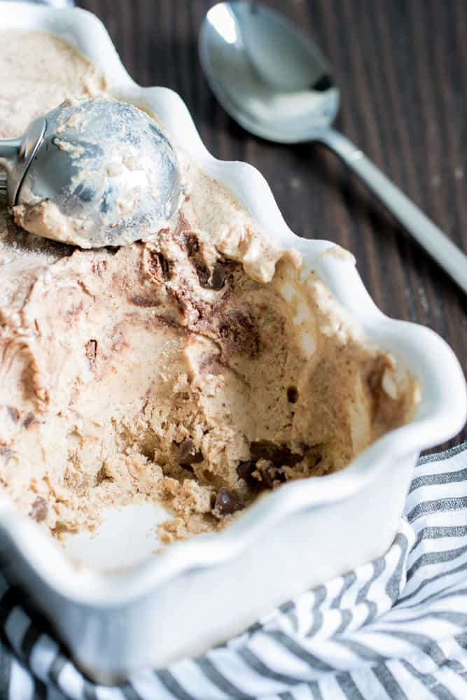 Banana Almond Butter Chocolate Swirl Ice Cream
