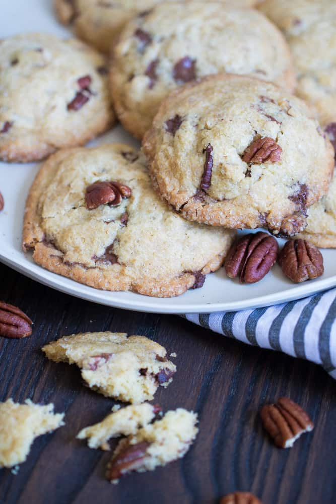 Soft + Chewy Butter Pecan Cookies