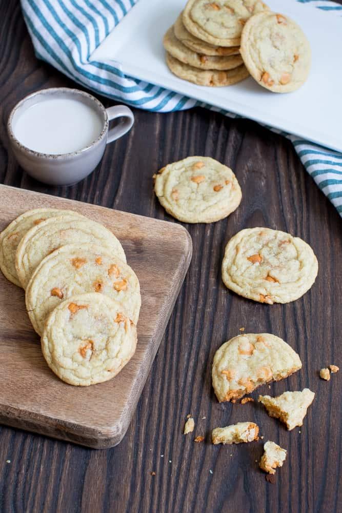 Soft + Crisp Crinkled Butterscotch Cookies