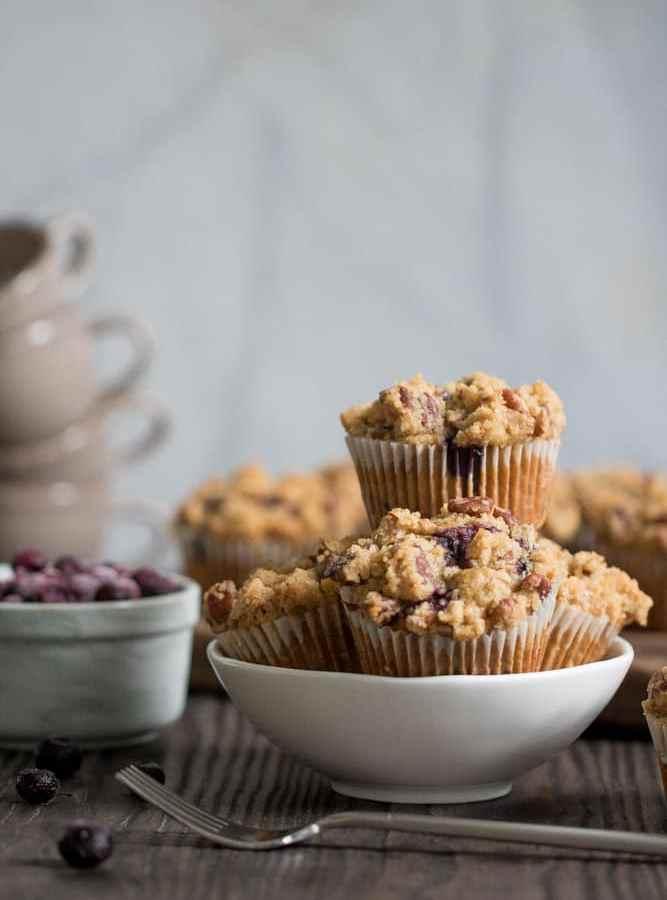 Vegan Breakfast Banana Blueberry Muffins