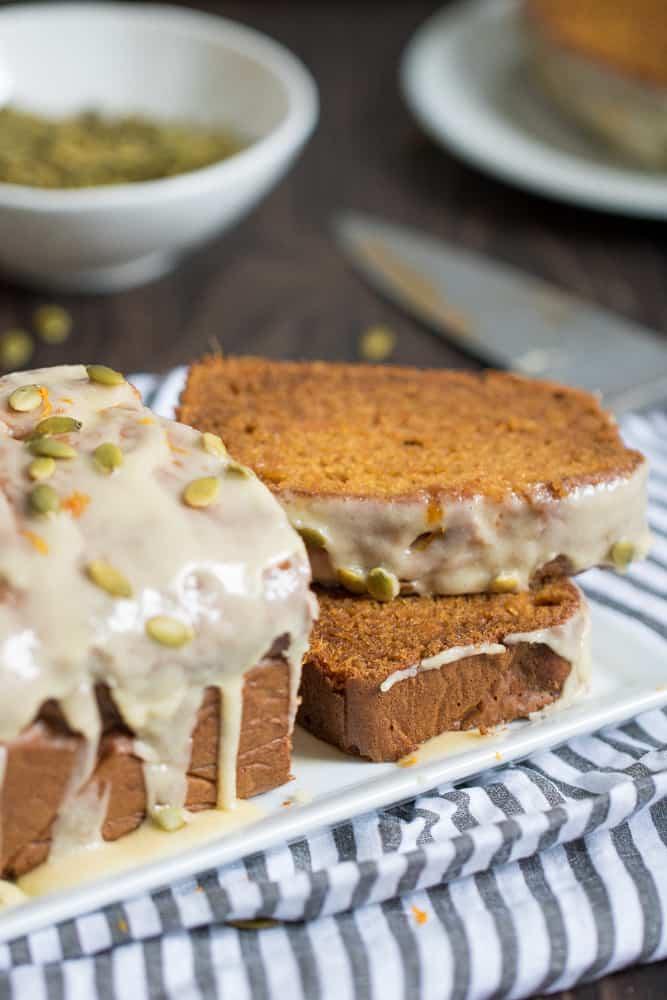 Sweet Potato Bread + Maple Butter Glaze